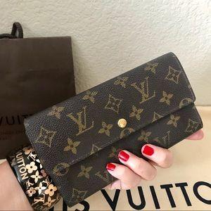 Louis Vuitton Monogram Wallet Porte Tresor Vintage